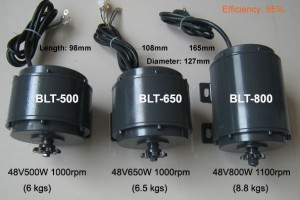 BLDC Motors for Light Weight Trikes
