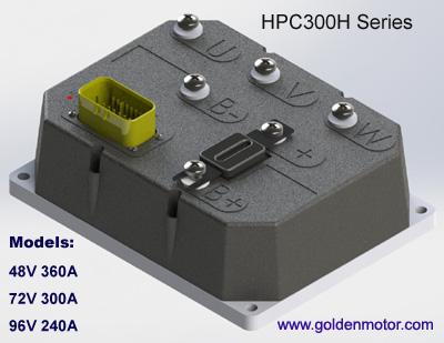 ชุดควบคุมมอเตอร์ไร้แปรงถ่านสำหรับรถไฟฟ้า เรือไฟฟ้า มอเตอร์ไซค์ไฟฟ้า HPC300H (สำหรับมอเตอร์ 5KW) 96V 240A