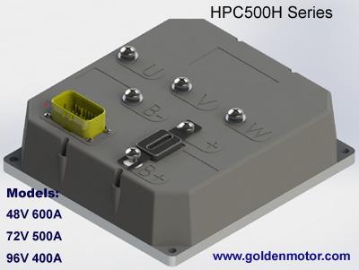 ชุดควบคุมมอเตอร์ไร้แปรงถ่านสำหรับรถไฟฟ้า เรือไฟฟ้า มอเตอร์ไซค์ไฟฟ้า HPC500H (สำหรับมอเตอร์ 10KW) 48V 360A, 72V 300A, 96V 240A
