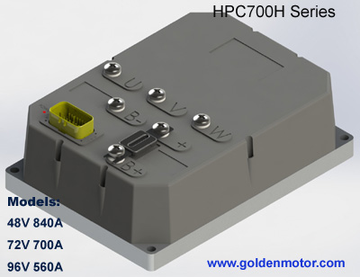 ชุดควบคุมมอเตอร์ไร้แปรงถ่านสำหรับรถไฟฟ้า เรือไฟฟ้า มอเตอร์ไซค์ไฟฟ้า HPC700H (สำหรับมอเตอร์ 15KW) 48V360A, 72V300A, 96V240A