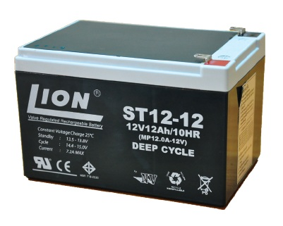 แบตเตอร์รี่แบบตะกั่วกรด Deep Charge ขนาด 12V 12AH (6DZM12)