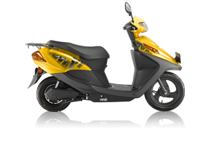 yellow_honda_electric scooter